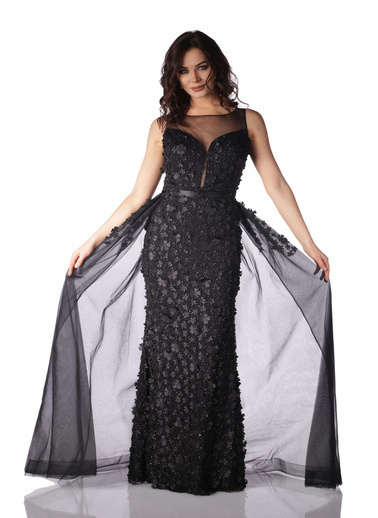 Pierre Cardin Uzun Abiye Elbise Siyah